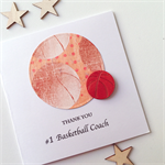Thank you #1 basketball COACH ball sport star team  card