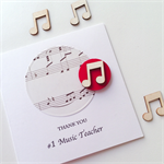 Thank you #1 music TEACHER piano guitar violin drums trombone card