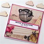 Bon Voyage travel plane postmark letter vintage him her traveller card