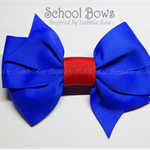 Large Layered School Bow -  Custom Made in school colors