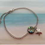 Abalone Shell Bead Starfish Seahorse Chain Beach Wear Anklet Jewellery