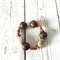 Brown african beaded inspired bracelet.