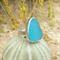 Aqua Blue Sea Glass Ring