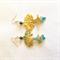 Bodhi Tree Earrings, boho tree of life jewellery, aqua green