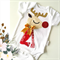 Baby Girls Ruby the Red Nose Reindeer Christmas Onesie. All sizes available