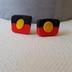 Aboriginal Flag Stud Earrings