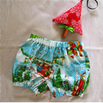 Bloomers, nappy cover, size 1. Xmas. Christmas fabric.