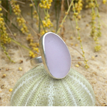 Purple Sea Glass Ring