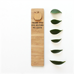 Teacher Bookmark bamboo laser cut birthday Christmas stocking filler apple