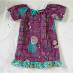 Peasant Style Cotton Dress. Art Gallery Fabric. Size 2.