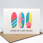 Birthday Card Female - Surfboards Female - HBF173 / Beach Lover