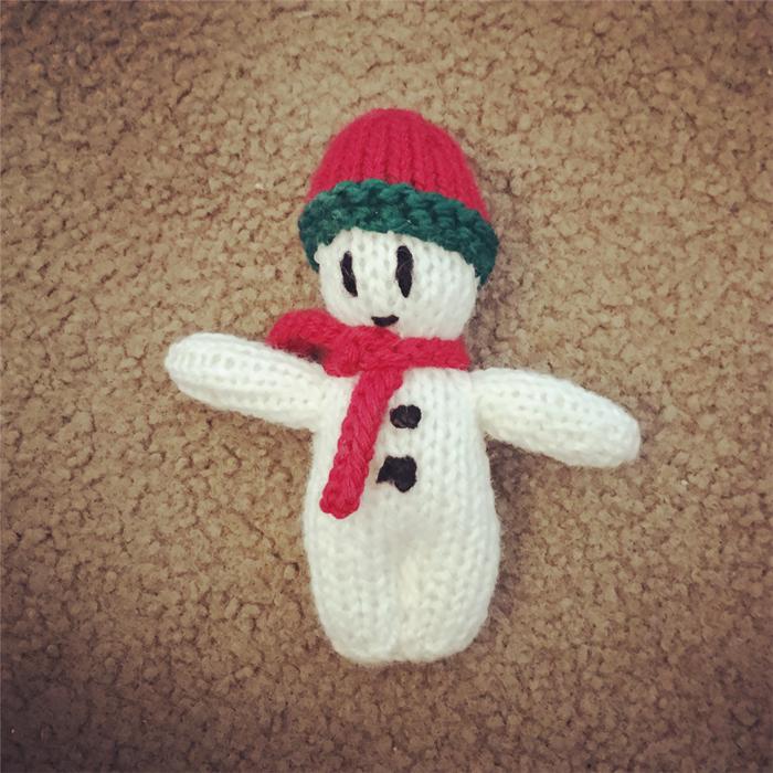 Mini Snowman Knitter Knatter Madeit