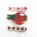 Set of 3 ladybug hair clips including ribbon sculpture ladybug