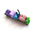 Caterpillar ribbon hair clip