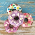 Felt donuts, play food, pincushion, doughnuts, room decor