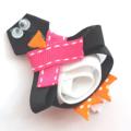 Penguin ribbon hair clip