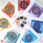 Chakra Mandala Cards and crystals set Mindfulness Greeting cards Wall decor