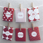 Advent Calendar - Candy Cane Christmas Countdown by Fluff & Bubbles
