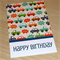 Kids Happy Birthday card - colourful cars