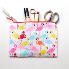 Fluro Flamingos Zipped Pouch or Pencil case