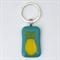 Fused Glass Pear Keyring