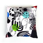 Marimekko Arty Pillow Cover. Gift for a Friend.