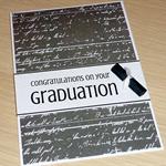 Graduation congratulations card with scroll