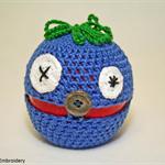 "Crochet apple cozy: ""Apple - Monster"" - COTTON"
