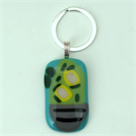 Fused Glass Cactus Keyring