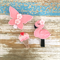 Value pack of 3 hair clips, ice-cream, flamingo, butterfly, pastel pink