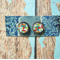 Decoupage Earrings-Colourful Geo