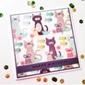 Happy Birthday fun party girl boy cat fish bird mouse him her celebration card