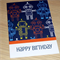 Kids Happy Birthday card - robots