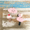 Value pack of 3 hair clips, ice-cream, flamingo, cloud, pastel pink