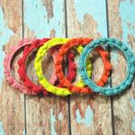 Crochet Ruffle Bangle