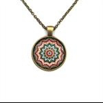 """Mandala 002"" | Choose silver or bronze | The $10 Pendant"