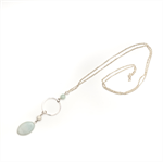 Fern long green gemstone necklace
