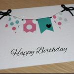 Female Happy Birthday card -  bunting