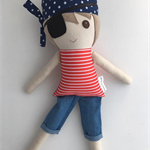 Ready to ship Koko & Joey Pirate Christopher cloth doll!