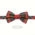 Bow Tie Tartan Red #1, Baby and Boy 0-8, velcro fasten, adjustable to fit babies