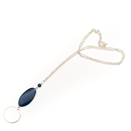 Corfu blue gemstone ring necklace