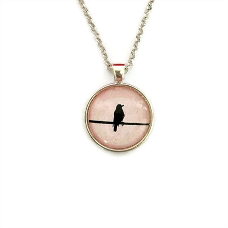 """Black Bird Pink 003"" 