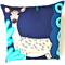 Marimekko  Deer Pillow . Large Blue / Green / Beige Animal Pillow. Kids Gift.
