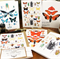 5 Insect Collection cards with 5 kraft envelopes.
