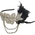 Black Feather and Rhinestone Fascinator, wedding, Bride, Bridesmaid, Flower Girl