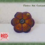 Crochet Flower Pin Cushion
