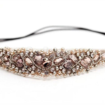 Beaded Elastic Headband Wedding Headpiece Girls Headband Jeweled Headband