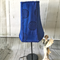 One of a kind gorgeous lapis lazuli blue rectangle shaped lampshade.