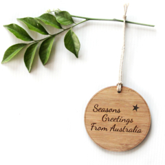 Australia Christmas Decoration, Bamboo Ornament, Australian Made Souvenir