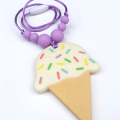 Washable Silicone Necklace for Kids - Ice Cream